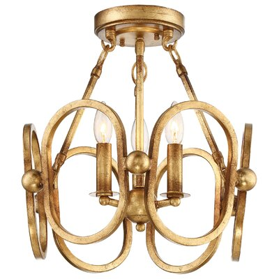 Clairpointe 3-Light Semi Flush Mount