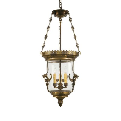 Vintage 3-Light Foyer Pendant