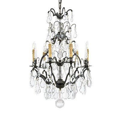 Vintage 6-Light Crystal Chandelier