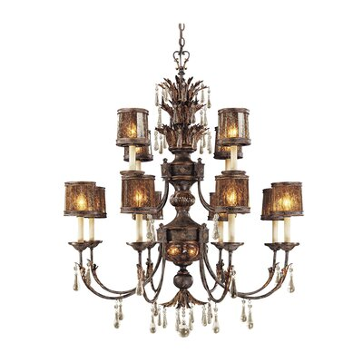 Sanguesa 14-Light Candle-Style Chandelier