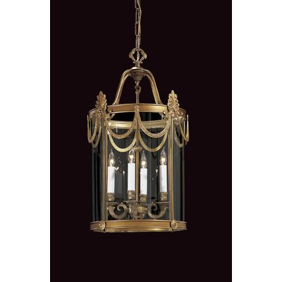 Vintage 4-Light Foyer Pendant