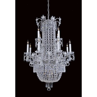 Contemporary 12-Light Empire Chandelier
