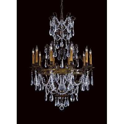 Vintage 10-Light Crystal Chandelier