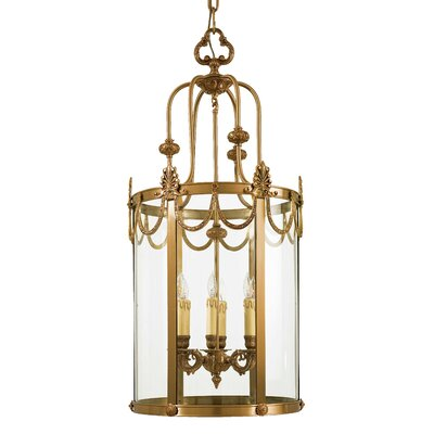 Vintage 6-Light Foyer Pendant