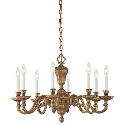 Casoria 8-Light Candle-Style Chandelier Finish: Vintage English Patina