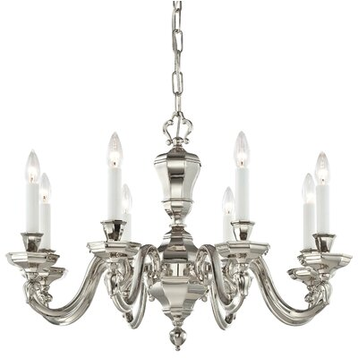 Casoria 8-Light Candle-Style Chandelier Finish: Polished Nickel