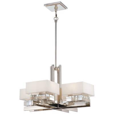 Eden Roe 8-Light Shaded Chandelier Size: 16 H x 27 W x 27 D