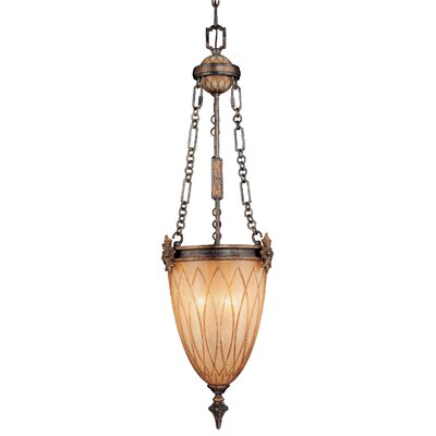 Terraza Villa with Leaf Accents 3-Light Foyer Pendant