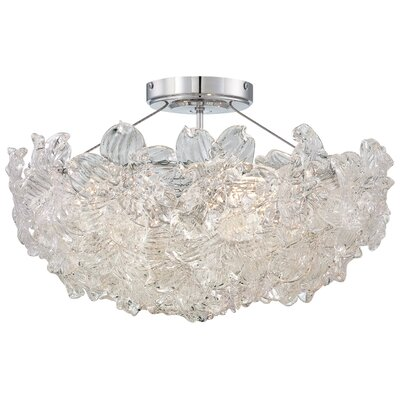 Bella Fiori 4-Light Semi Flush Mount