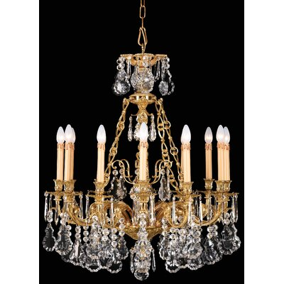 Vintage 12-Light Crystal Chandelier