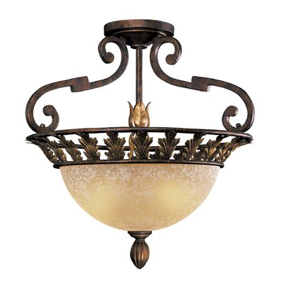 Zaragoza 3-Light Semi Flush Mount