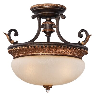 Bella Cristallo 3-Light Semi Flush Mount