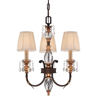 Bella Cristallo 3-Light Shaded Chandelier