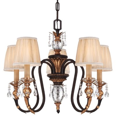 Bella Cristallo 5-Light Shaded Chandelier