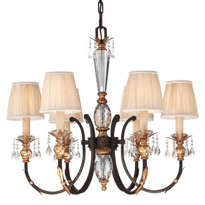 Bella Cristallo 6-Light Shaded Chandelier
