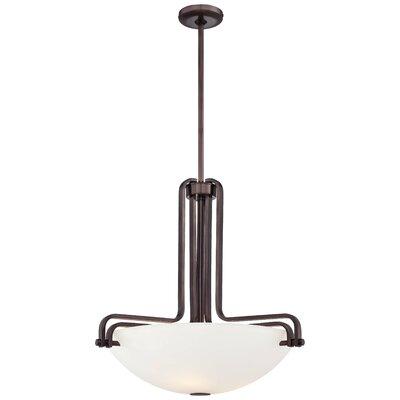 Industrial 3-Light Bowl Pendant Size: 22.25 H x 23.5 W x 23.5 D