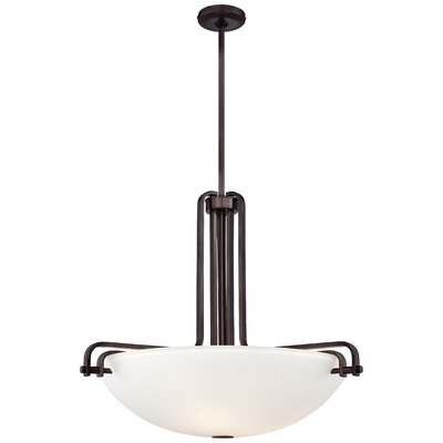 Industrial 3-Light Bowl Pendant Size: 24.5 H x 28.75 W x 28.75 D
