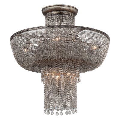 Shimmering Falls 7-Light Semi Flush Mount