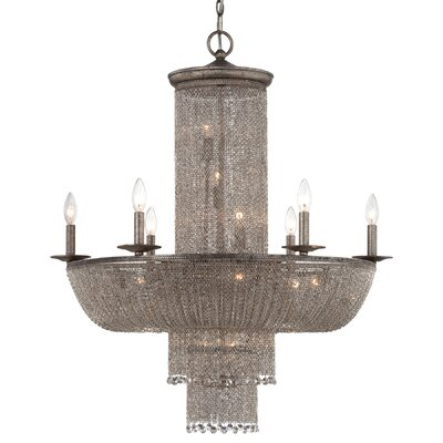 Shimmering Falls 18-Light Crystal Chandelier