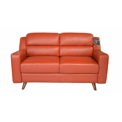 Lucia Leather LoveSeat