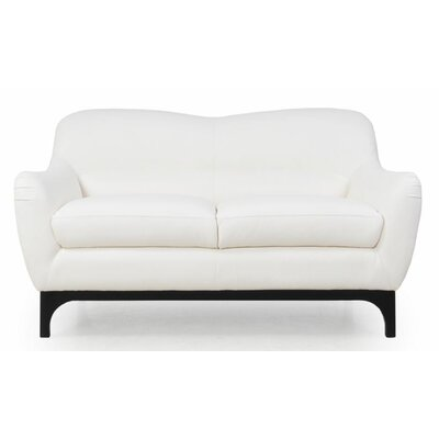 Wollo Leather Loveseat
