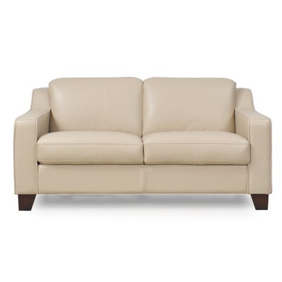 Cora Leather Loveseat
