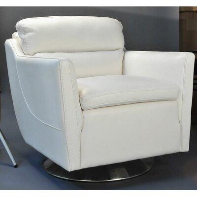 Clio Full Top Grain Arm Chair Upholstery: White