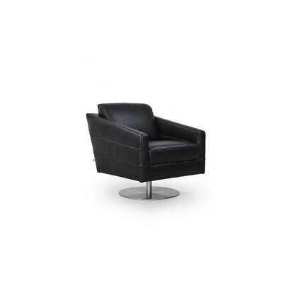 Eagle Full Top Grain Arm Chair Color: Black