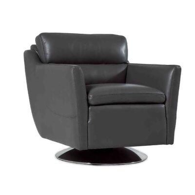 Clio Full Top Grain Arm Chair Upholstery: Black
