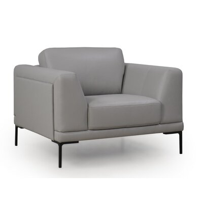 Joachim Top Grain Contemporary Armchair