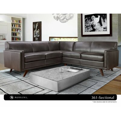 Ari Mid-Century Leather Sectional