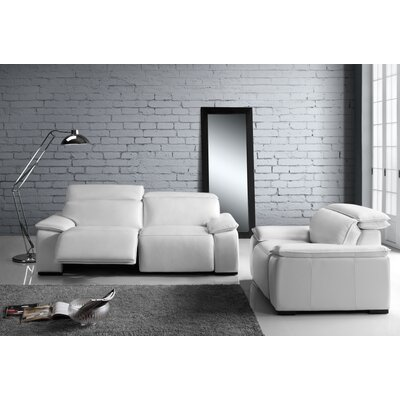 Atilla Top Grain Motorized Loveseat