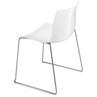 Catifa 53 Side Chair Color: Black Gloss Back / Matt Front