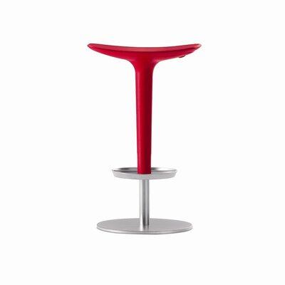 Babar 25.6 Swivel Bar Stool Upholstery: Red