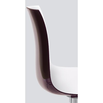 Catifa 53 Side Chair Color: Chocolate Gloss Back / White Matt Front