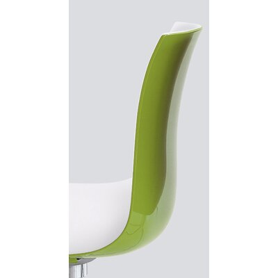 Catifa 53 Side Chair Color: Apple Green Gloss Back / White Matt Front