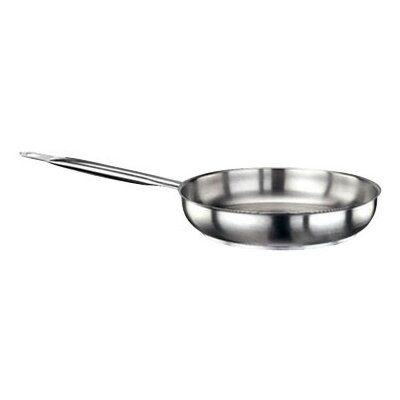 Frying Pan In Stainless Steel Size-15.75-in.