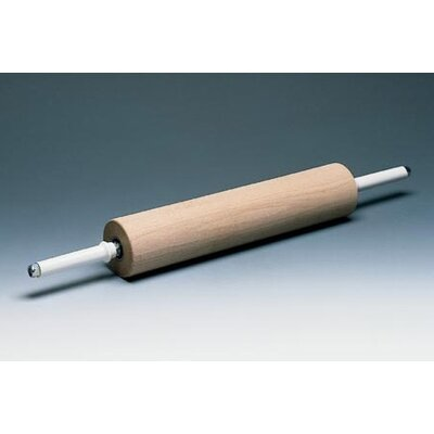 Wooden Rolling Pin Handles With Gear Size-l 17 3/4 X Dia 3 1/2