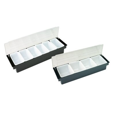 Bar Cocktail Container In Abs Plastic Compartment-4 Compartments
