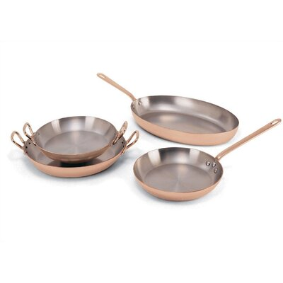 Stainless Steel / Copper Round Pan Size-10.25-in.