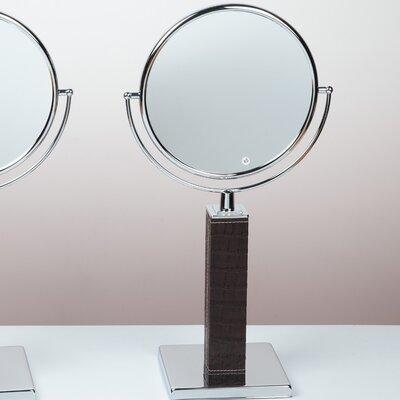 Kosmetic Victoria Patent Croco Makeup Mirror Finish: Dark Brown