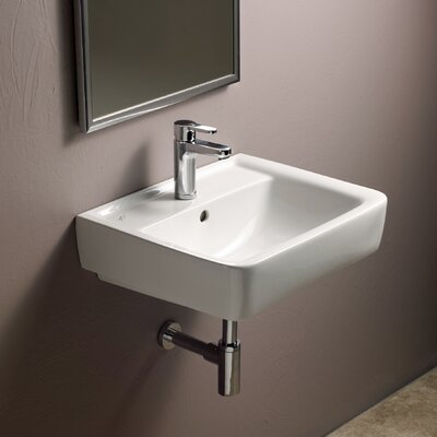 Renova Ceramic Rectangular Vessel Bathroom Sink with Overflow