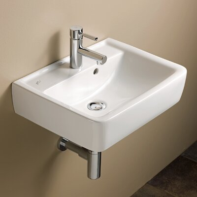 Elements Renova 20 Wall Mounted Bathroom Sink with Overflow