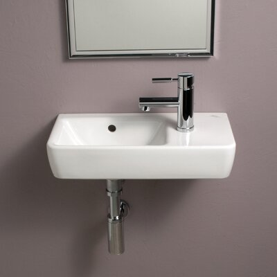 Elements Comprimo 20 Wall Mounted Bathroom Sink with Overflow
