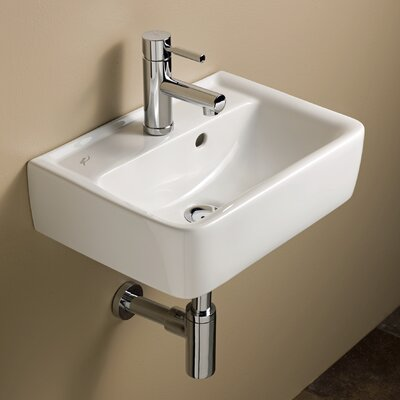 Elements Renova 18 Wall Mounted Bathroom Sink with Overflow