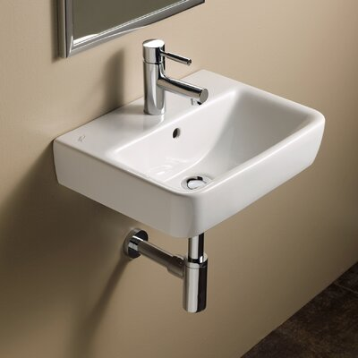 Elements Comprimo 18 Wall Mounted Bathroom Sink with Overflow