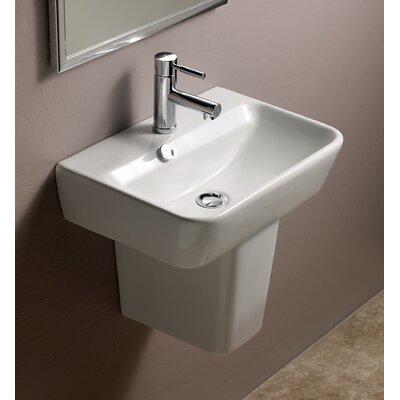 Emma 20Pedestal Bathroom Sink with Overflow