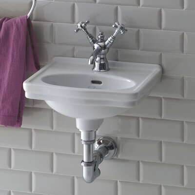 Leavitt Vitreous China 15 Wall Mount Bathroom Sink with Overflow