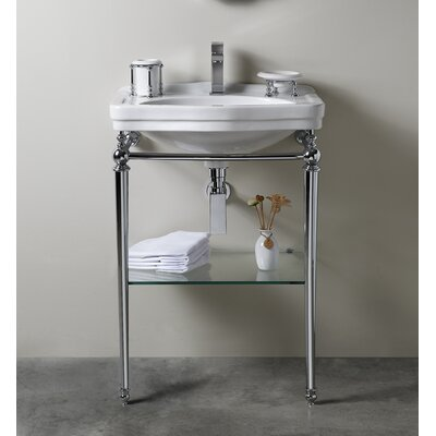 Florian Londra 23 Console Bathroom Sink with Overflow Finish: Chrome