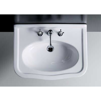 Florian Londra 23 Console Bathroom Sink with Overflow Finish: Brushed Nickel
